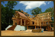Want a log home built your property? Contact Hearthstone for a log home.